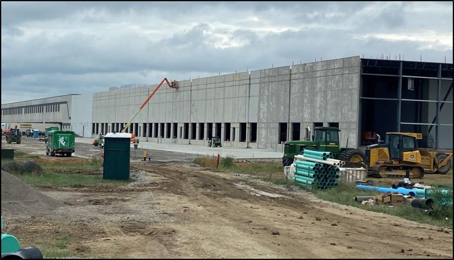 dollar general warehouse cold storage expansion zanesville ohio