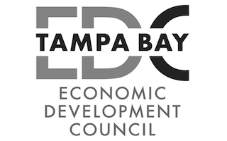 Logo for Tampa Bay EDC a JobsEQ client