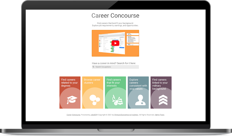 computer screen displaying career concourse by chmura