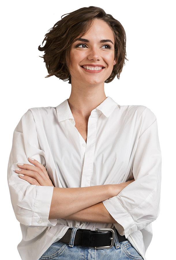 determined woman smiling